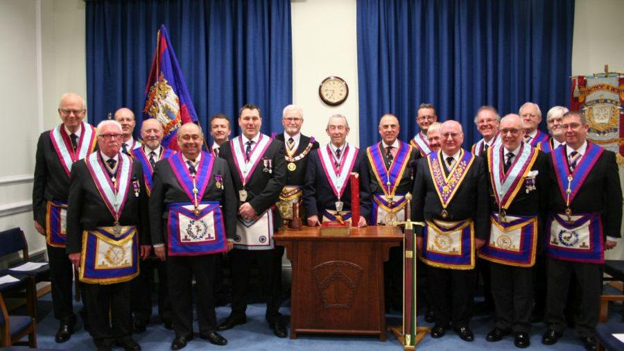 RW Bro David Ashbolt, PGM visits Prudence & Verity Lodge No 932 - 16th February