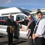 Mark Province of London Minibus Presentation to RMBI The Lord Harris Court Home at Sindlesham