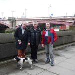 Three Men and a Dog recce the London Bridges Walk