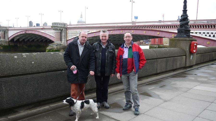 Three Men and a Dog recce the London Bridges Walk