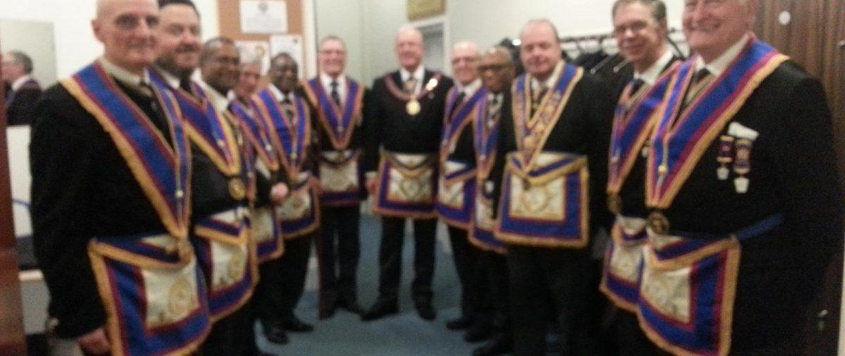 APGM Tom Quinn and Delegation visit Brixton Lodge 23 February 2016