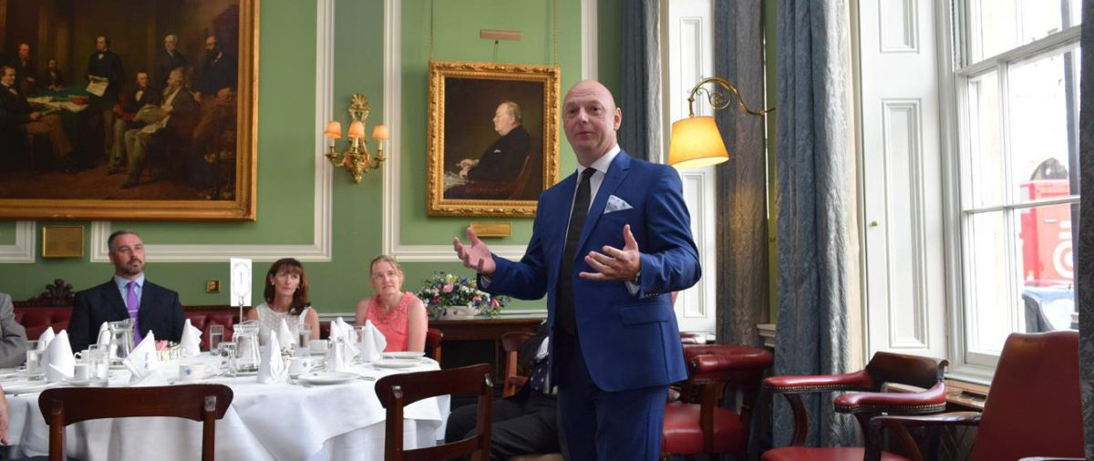 Afternoon Tea at the Carlton Club and a Lecture on Jack the Ripper from Atillio Grandani raises £1,500.00 for London Air Ambulance Appeal.