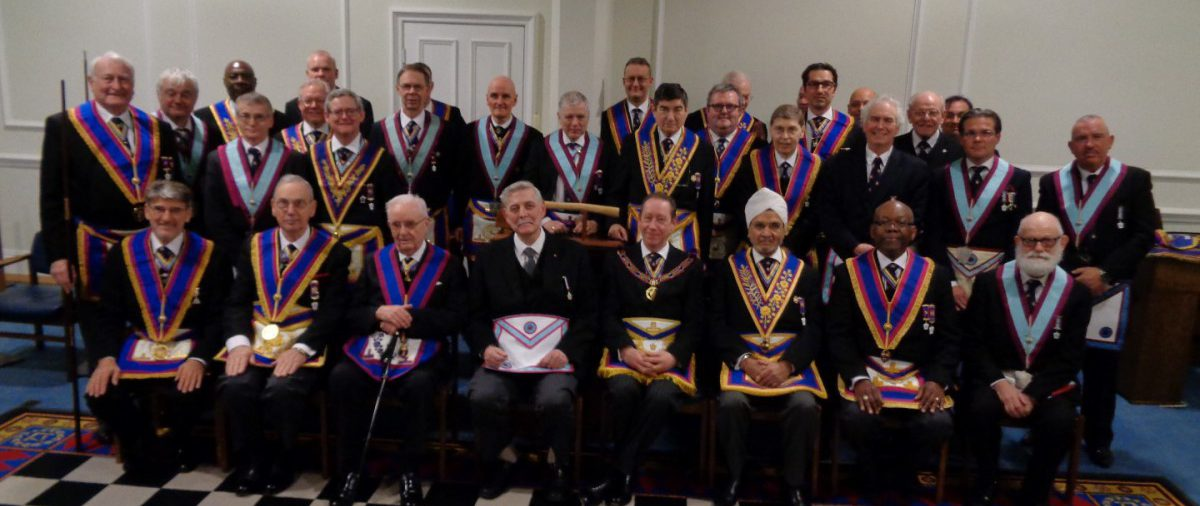 VW Bro Bill Divall's last Official Delegation as DPGM in visit to St Johns Wood Lodge 07 03 2106