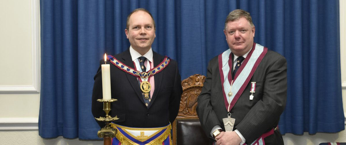APGM Paul Muston and delegation visit Woodard lodge on the 22nd March