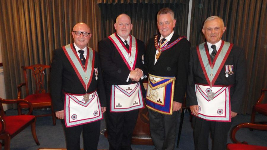 First Official duty as APGM, Henry Hobson visits Minchenden Oak