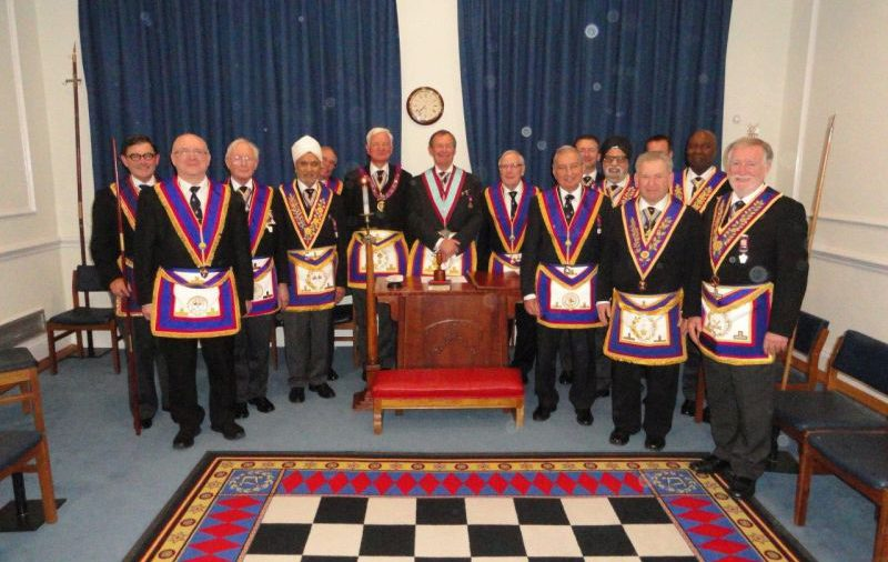 DepPGM V W Bro Bill Divall and APGM V W Bro Keith Florence visit Tuscan on 15th June