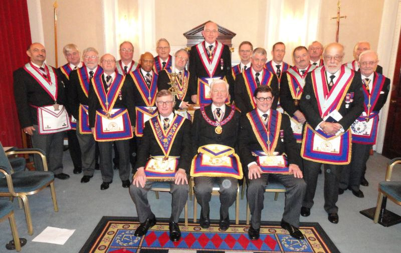 VW Bro Keith Florence, APGM's visit to Scots Lodge on 16th February. A good time was had by all.