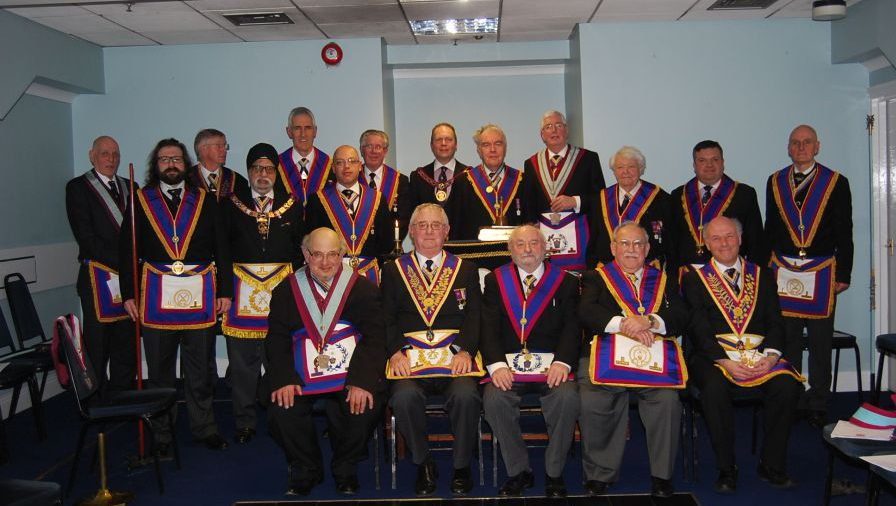 Visit by Paul Muston APGM and his Delegation to Commemoration Lodge 1091 on 13th February 2015