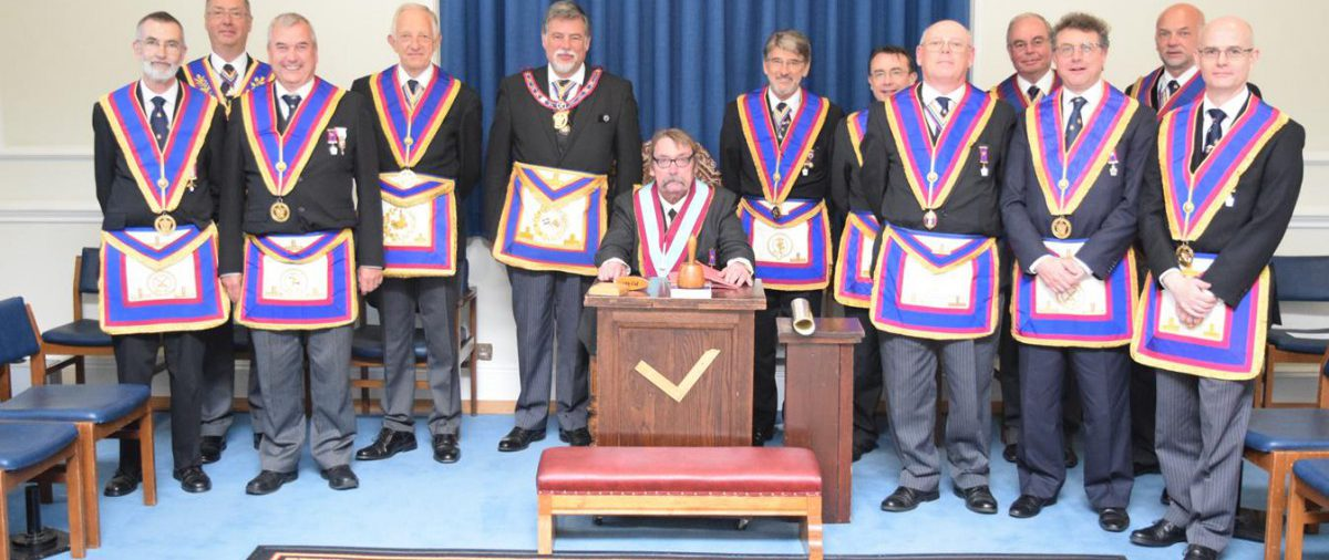 APGM Cliff Sturt and his Delegation on his inaugural visit to Orchestral Lodge on 5th September 2016