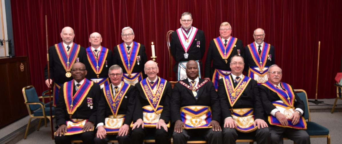 V W. Bro. Jerry Gangadeen and a select delegation of Provincial Grand Officers visit Guild of Freeman Lodge