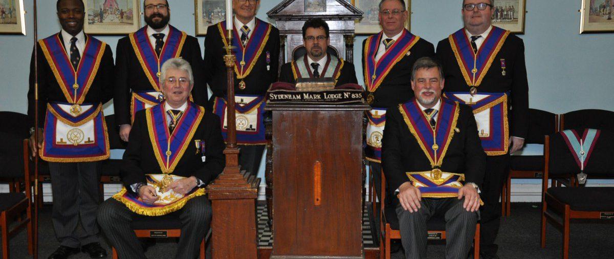W.Bro Cliff Sturt Provincial Grand Senior Warden & his Delegation at Sydenham Mark No 835 20th February 2016