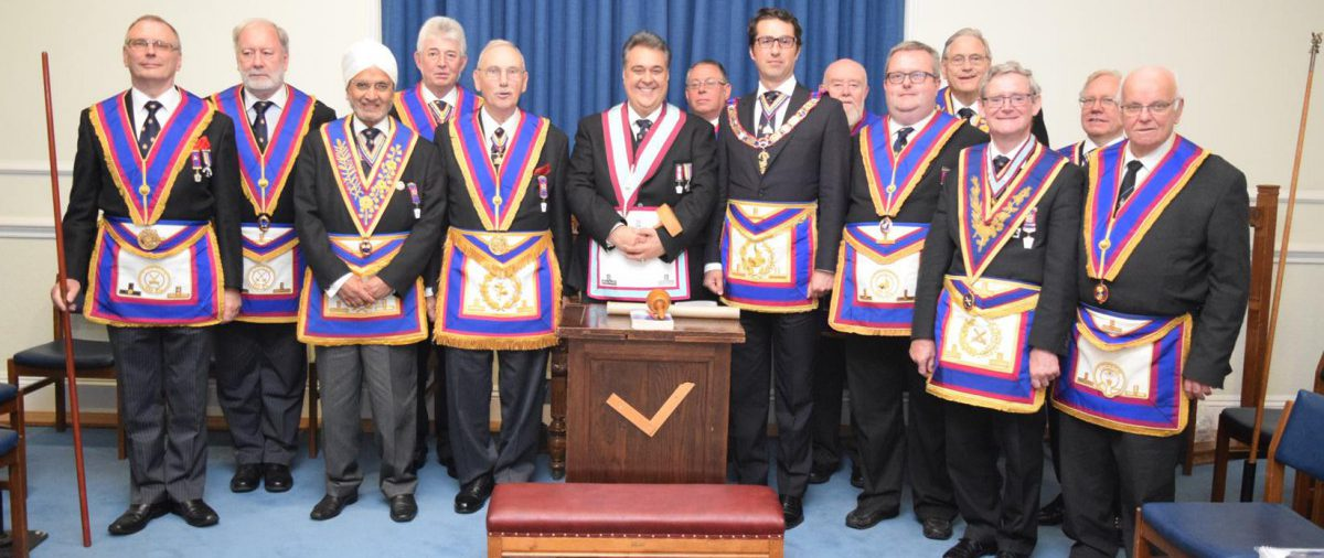 David James, Prov GJW and a 13 strong Delegation visit Italia Lodge on 13 06 16