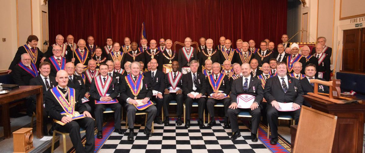 PGM David Ashbolt and a Full Team Visit to BA for a very special Axe Presentation by the Deputy Grand Master RW Bro Raymond Smith 20th October 2016