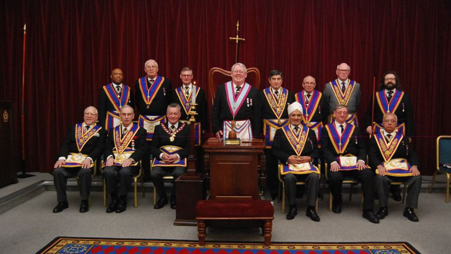 The Stars of Drury Lane come out to greet W Bro Henry Hobson, APGM, and his Delegation on Thursday 12th March 2015