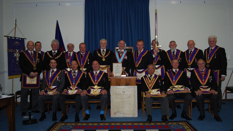 Full Team Visit to Keystone 107 by R W Bro David Frederick Ashbolt Provincial Grand Master and his Delegation