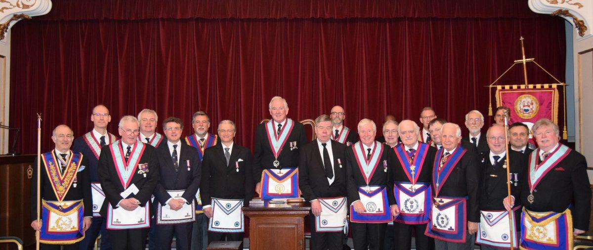 W Bro Clifford Sturt ProvGSW and his delegation visits Bon Accord TI