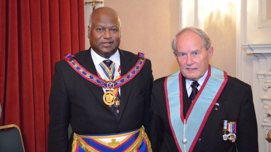 APGM Jerry Gangadeen visits Dramatic Lodge on Tuesday 6th October