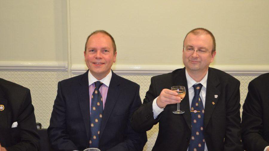 APGM Paul Muston and delegation visit Britannic Lodge 11 December 2015