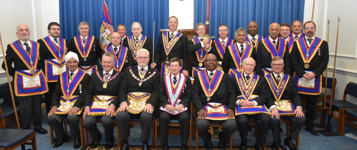 On the 24th October the PGM David Ashbolt and a full team visit the Prince of Wales lodge at which the PGM presented the lodge with an axe.