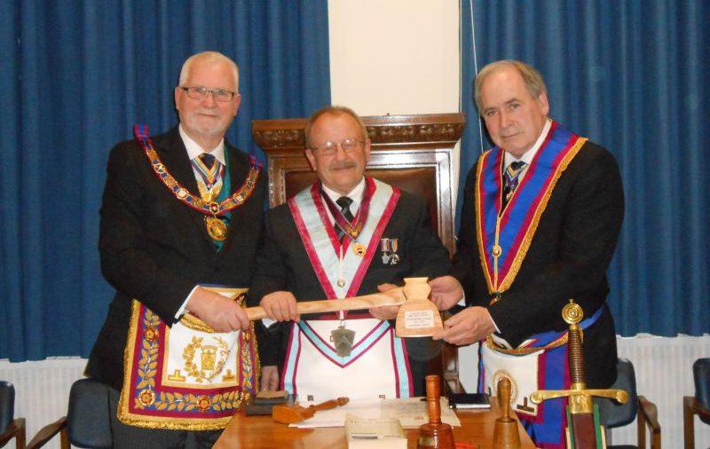Studholme Lodge welcome R.W. Bro. David Ashbolt PGM