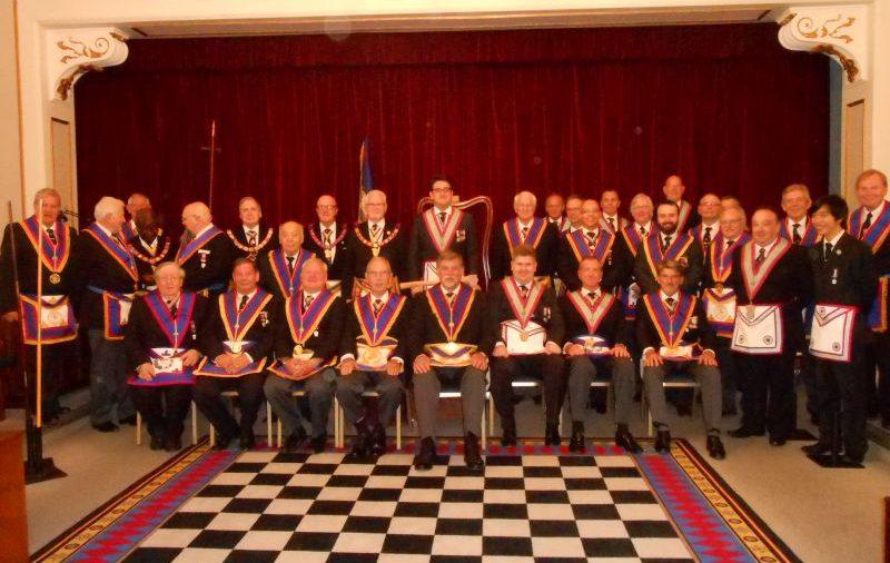 R.W. Bro. David Ashbolt PGM visit to Mapesbury Lodge 16th. July 2015