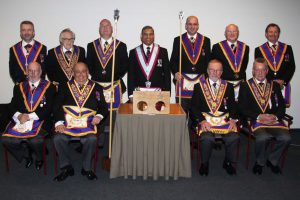 London Mark Provincial Grand Stewards Lodge Team Advance two Fellowcrafts at Arlon in Belguim