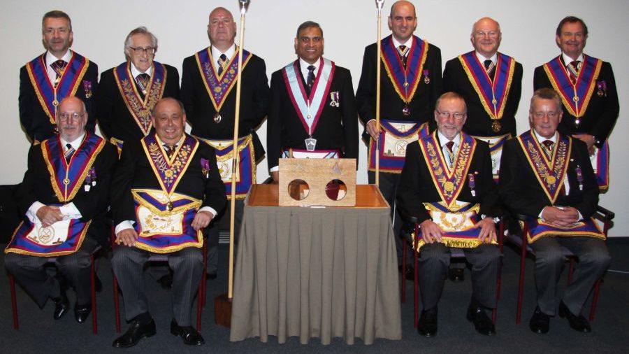 London Mark Provincial Grand Stewards Lodge Team Advance two Fellowcrafts at Arlon in Belguim
