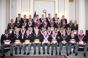 Lodge of Clemency Consecration 5th July 2014 Full Team Visit followed by nine Advancements