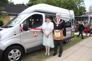 Presentation of Second minibus to the RMBI home Prince Michael of Kent Court in Watford