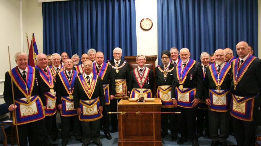 RW Bro David Ashbolt, Provincial Grand Master visits Thistle Lodge No8 - 20th April