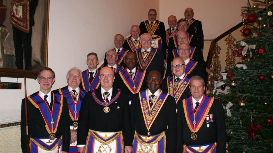 APGM Tom Quinn and Delegation visit Connaught Army and Navy Lodge 1 December 2015