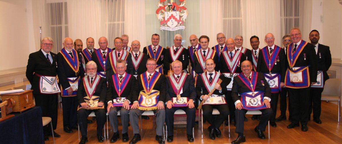 W Bro David Lucas, Provincial Grand Junior Warden visits Onslow Lodge - 17th November