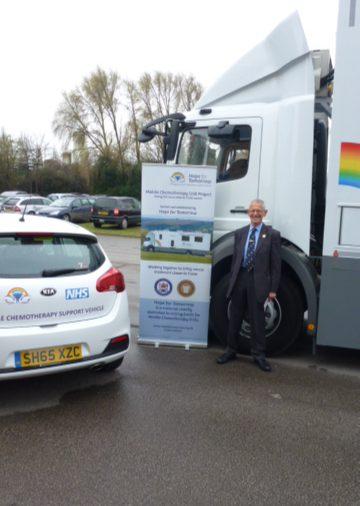 Brixton 234's W Bro Malcolm (Mac) Speake. Prov GIG, Visits Suffolk Presentation of Hope for Tomorrow Vehicle.