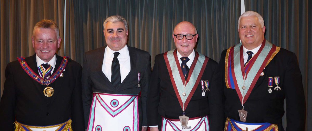 W. Bro. Henry Hobson APGM visits Minchenden Oak Lodge 9th March 2015