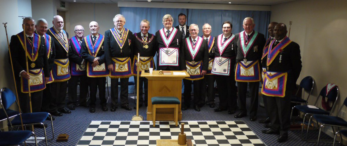 W Bro. Henry Hobson APGM, his Escorting APGDC W. Bro. Bryan Wakely and their Delegation visit Pickwick Lodge
