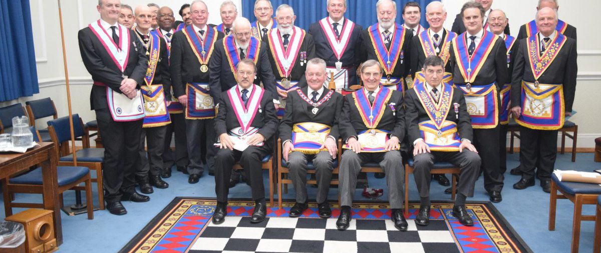 APGM Henry Hobson and a Delegation of Provincial Officers enjoy Savage Club's Hospitality