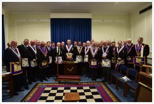 MacDonald Lodge welcomes APGM Timothy MacAndrews and delegation