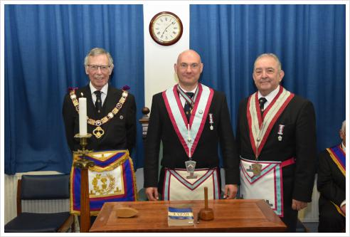 The Provincial Grand Senior Warden WBro. Brian Parkins GSO and a delegation of Provincial Grand Officers visited Semper Fidelis Lodge