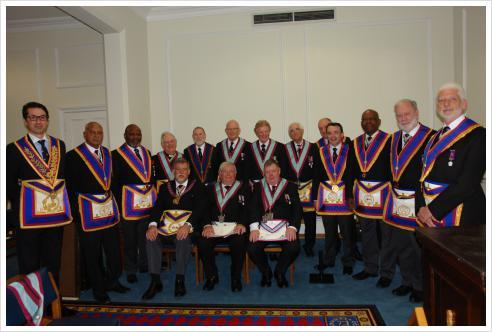WBro Cliff Sturt APGM and delegation visit Woodard Lodge
