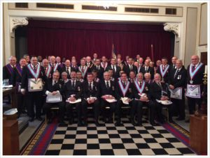 PGM David Ashbolt and a Delegation of Provincial Officers attended Aegean for a feast of Mark Masonry