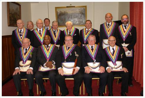 WBro Jerry Gangadeen RAMGR and APGM, together with a delegation of Provincial Grand Officers, enjoyed an eventful meeting of Dramatic RAM