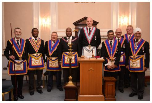 VW Bro Jerry Gangadeen, APGM, and delegation visit to Eclectic & Empress Britannic Lodge on 16th March 2017