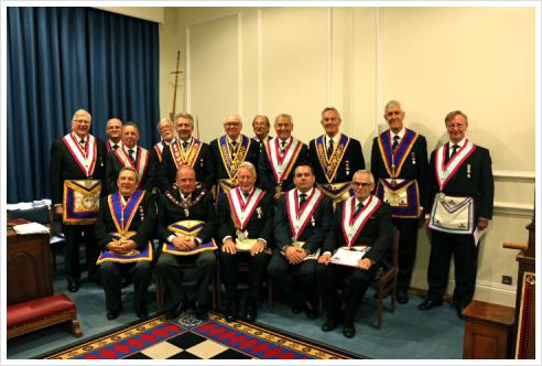 APGM WBro Tim MacAndrews and Delegation visit Connaught Army & Navy No.748