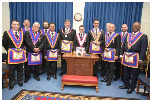 Euclid Lodge receives APGM Cliff Sturt and Delegation for a great evening's entertainment