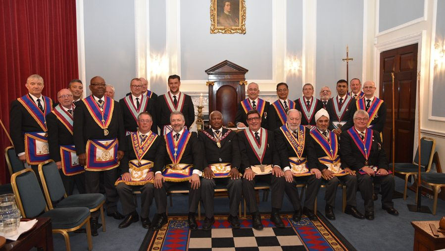 The APGM VW. Bro. Jeremiah Gangadeen accompanied by a delegation of Provincial Grand officers visited Meridian lodge on the 20th September 2017