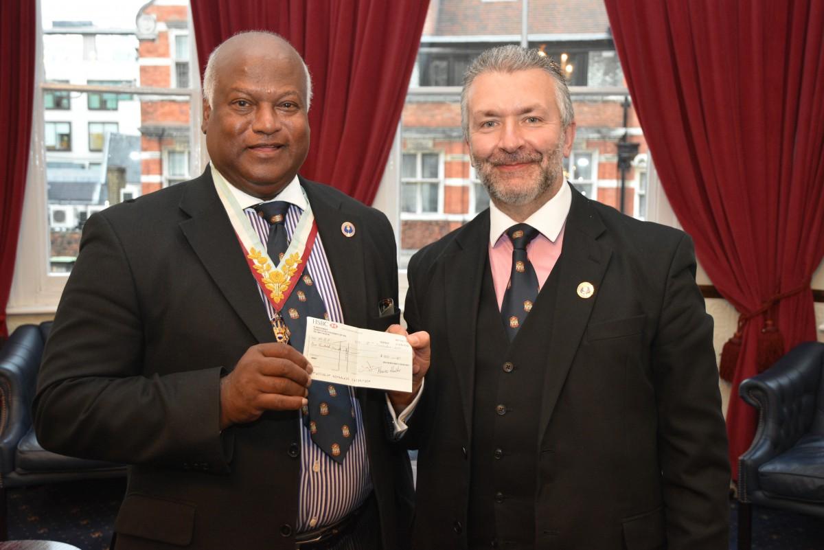 W. Bro. Attilio Grandani raises yet more money for the MBF Hope for Tomorrow Appeal.