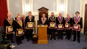 A.P.G.M W Bro Clifford Sturt P.G.J.D Delegation to Ethical Lodge No. 458