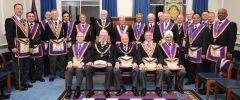 A Full Team Visit by RW David Ashbolt, Provincial Grand Master and his Delegation to Golden Square Lodge