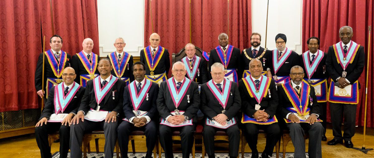Provincial Grand Senior Warden, W Bro Harvey Roland, P.G.S.D Delegation to Epworth Lodge No. 1771