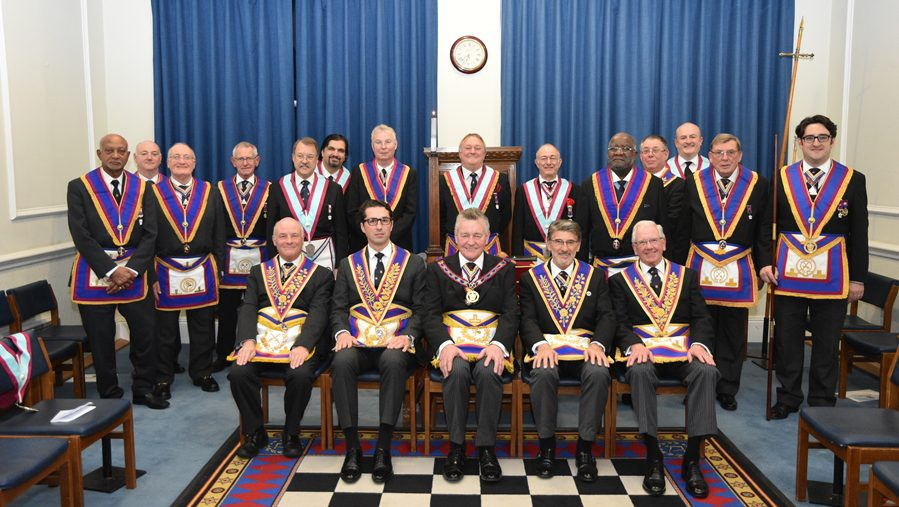 APGM W. Bro. Henry Hobson and a delegation of Provincial Grand Officers visit the Savage Club on the 13th December 2017